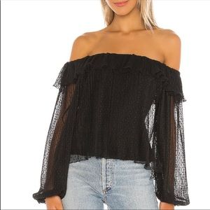 TULAROSA x REVOLVE May Lace Off The Shoulder Top